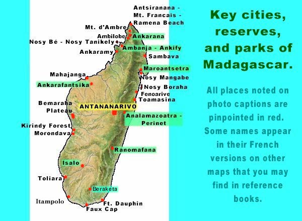 {Madagascar Destination guides hotels and travel info at TripSpot – Madagascar Tourist Attractions Map